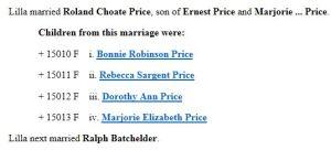 price tree