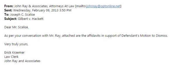 fluke email from JR
